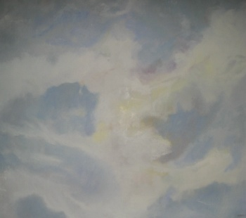 Cloud – summer sky oil on canvas