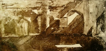Portchester castle – aquatint